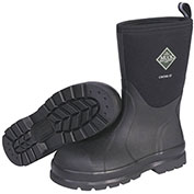 """Muck Boots CMS-000A Chore Mid-Safety Toe Workboot, 12"""" Height, Size 6, Black"""