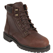 """KING'S® KCWB03 Men's Leather Workboot, 6"""" Height, Size 14, Brown"""