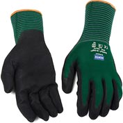 North® Flex Oil Grip™ Nitrile Coated Gloves,  NF35/11XXL, Green, 1 Pair - Pkg Qty 144