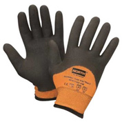 North® Flex Cold Grip Plus 5™ Cut-Resistant Gloves, Hi-Vis Orange/Black, Size M, 1 Pair