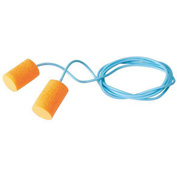 FirmFit™ Corded Disposable Earplugs, PVC Foam, Orange, 30 dB, 100 Pairs
