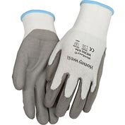 Honeywell WorkEasy® Cut-Resistant HPPE Fiber Glove, Gray Shell & PU Palm, Medium