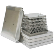 "HY-C 13"" x 18"" Stainless Steel Stackable Multi-Pack Single Flue Chimney Covers 4 Pack - MPSS1318"