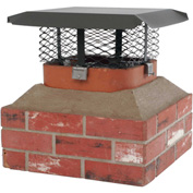 "HY-C Small 5/8"" Mesh Shelter Adjustable Clamp-On Galvanized Steel Single Flue Chimney Cap- SCADJ-S-C"