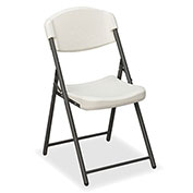 Iceberg Economy Folding Chair - Platinum - Pack of 4 - Rough 'N Ready Series