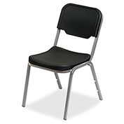 Iceberg Plastic Stack Chair - Black - Pack of 4 - Rough 'N Ready Series