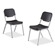 Iceberg Plastic Stack Chair - Charcoal - Pack of 4 - Rough 'N Ready Series