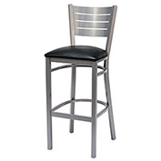 Iceberg Bistro Stool - Metal with Padded Seat - Black