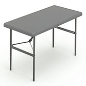 "Iceberg IndestrucTable TOO™ Folding Table - 48"" x 24"" - Charcoal - 1200 Series"