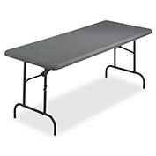 """Iceberg IndestrucTable TOO™ Folding Table - 72"""" x 30"""" - Charcoal - 1200 Series"""