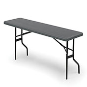 "Iceberg IndestrucTable TOO™ Folding Table - 72"" x 18"" - Charcoal - 1200 Series"