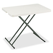 "Iceberg IndestrucTable TOO™ Folding Table - 30"" x 20"" Personal - Platinum - 1200 Series"