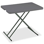 "Iceberg IndestrucTable TOO™ Folding Table - 30"" x 20"" Personal - Charcoal - 1200 Series"