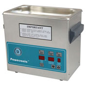 Ultrasonic Table Top Part Cleaning System - Digital Timer/Heat/Power Control, .75 Gal, 45 kHz, 230V