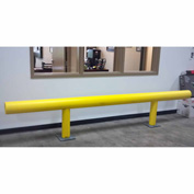 "Ideal Shield® Heavy Duty One-Line Guardrail, Steel & HDPE Plastic, Yellow, 120"" x 42"""