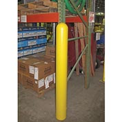"Smooth Bollard Post Sleeve, 6"" HDPE Dome Top, Yellow"