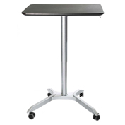 Seville Classics AIRLIFT™ XL Sit-Stand Mobile Desk, Espresso