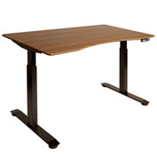 "AIRLIFT™ S2 Electric Height Adjust Desk - 54""W x 30""D x 28.7""-48.4""H - Walnut with Black Frame"