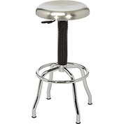 Pneumatic Work Stool - Stainless Steel