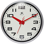 "Infinity Instruments 15"" Round Lexington Avenue Wall Clock - Silver"