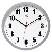 "Infinity Instruments 12"" Wall Clock, Silver"