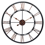 "Infinity Instruments 28"" Wall Clock, Black Metal"