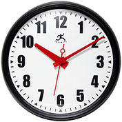 "Infinity Instruments 15"" Round Impact Wall Clock - Black"