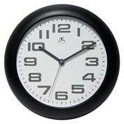 "Infinity Instruments 12"" Wall Clock, Black"