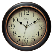 "Infinity Instruments 12"" Wall Clock, Black/Gold"