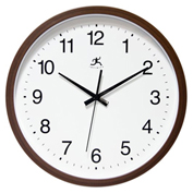 "Infinity Instruments 14"" Wall Clock, Brown"