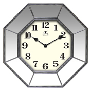 "Infinity Instruments 16"" Wall Clock, Octagon Mirror"