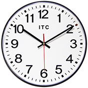 "Infinity Instruments 12"" Round Prosaic Wall Clock - Black"