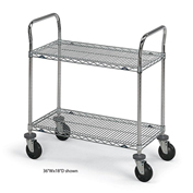 "Intermetro Ind Corp 54331D 60X24X39.5"" S/S Wire 2 Shelf T"