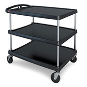 Intermetro Ind Corp MY2636-35BL 3 Shelf Cart Black