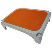 Imperial Surgical® OR-36363-07 Aluminum Stackable Step Stool with Orange Mat - Pkg Qty 4
