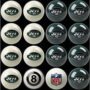 New York Jets Home Vs. Away Billiard Ball Set