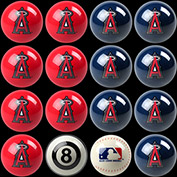Anaheim Angels Home Vs. Away Billiard Ball Set