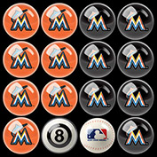 Florida Marlins Home Vs. Away Billiard Ball Set