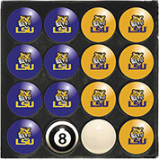 Louisiana State University Home Vs. Away Billiard Ball Set