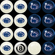 Penn State Home Vs. Away Billiard Ball Set