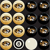 University Of Missouri  Home Vs. Away Billiard Ball Set