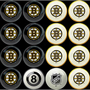 Boston Bruins Home Vs. Away Billiard Ball Set