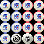 New York Rangers Home Vs. Away Billiard Ball Set