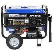 DuroMax XP4400E Gas Generator W/Electric Start & Wheel Kit, RV Grade 4,400W 7.0HP