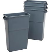 Impact® Thin Bin™ Container - 23 Gallon, Gray, 7023-3