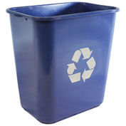 Impact Pinch'M Rectangular Soft-Sided Plastic Recycle Wastebasket-28 Qt.,Blue, 7702-11r - Pkg Qty 12