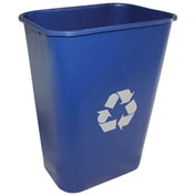 Impact Pinch'M Rectangular Soft-Sided Plastic Recylce Wastebasket-41 Qt., Blue, 7703-11r - Pkg Qty 12