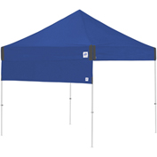 E-Z UP® Half Wall, HW3RB10SLGY, 10' Straight Leg, Royal Blue With Grey Accents
