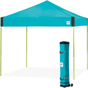 E-Z Up® Pyramid™ Instant Shelter, PR3LA10SP, 10x10', Splash Top With Limeade Frame