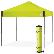 E-Z Up® Pyramid™ Instant Shelter, PR3SG10LA, 10x10', Limeade Top With Grey Frame